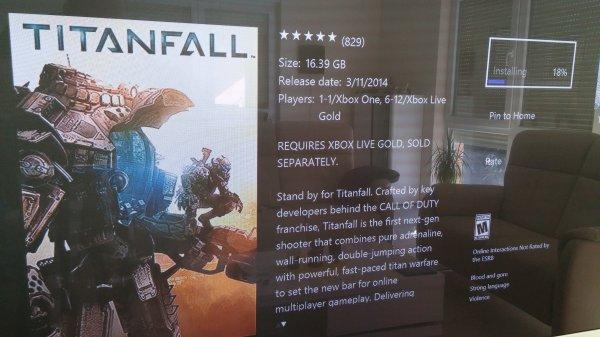 Topschnäppchen Titanfall für Xbox One (MS Online Store)