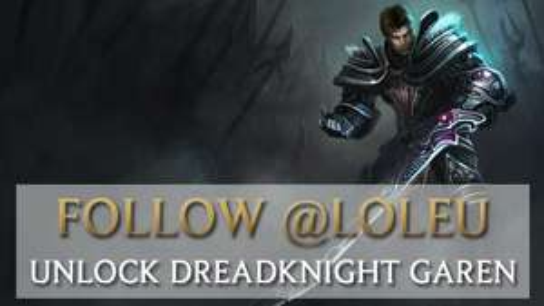 Leauge of Legends Garen skin (Dreadknight Garen) fürs folgen auf twitter!