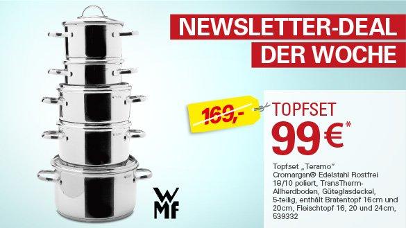 WMF Teramo 5 teilig für 99€ Höffner