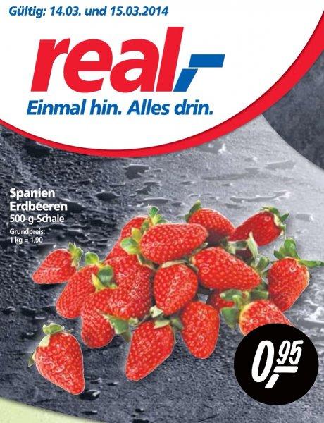 [REAL] 500g Erdbeeren 0,95 Euro