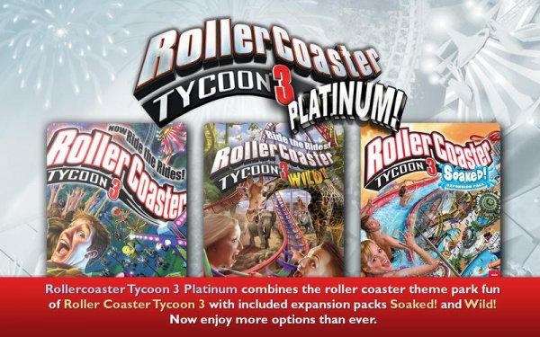 Rollercoaster Tycoon 3:Platinum für 2,54€ @ Nuuvem (No VPN, STEAM - MAC/WIN)