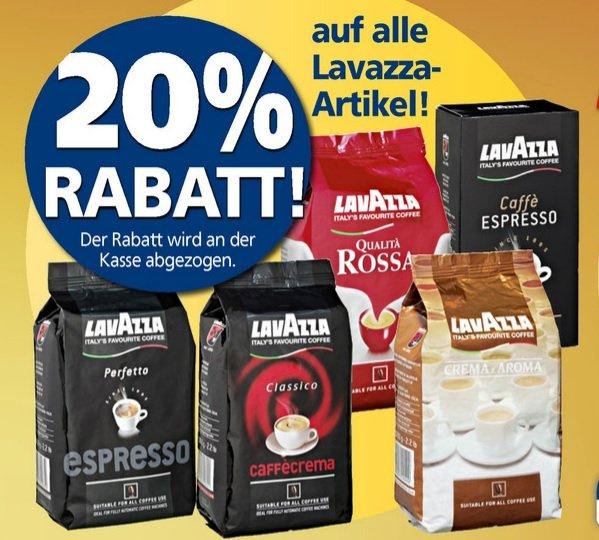 20 Prozent auf alle Lavazza-Artikel bei Real (offline) z.B. 1Kg Espresso Perfetto für 13,19€