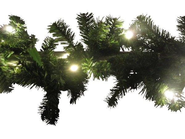 (WHD) Weihnachtsgirlande 270cm - 500cm mit LED Lichterkette (weiße LED Lichterkette, 270 cm) - 92% Ersparnis
