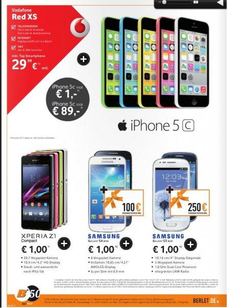 Handy Vertrag Vodafone Red Xs(Allnet Flat & SMS) effektiv ab 11,62€ Monatlich (Berlet / Phonehouse)durch Gutschein / Handy