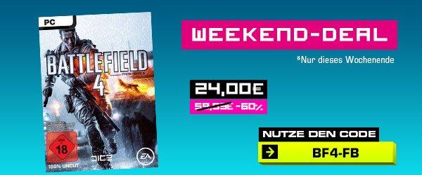 Battlefield 4 Weekend Deal auf Gameliebe