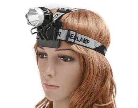 (MeinPaket) 1200 Lm lux CREE XM-L T6 LED Fahrrad- oder Stirnlampe