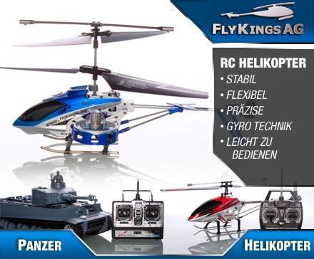 22,50€ statt 90 Euro für Deine funkgesteuerten Helikopter und Panzer von den FlyKings @dailydeal