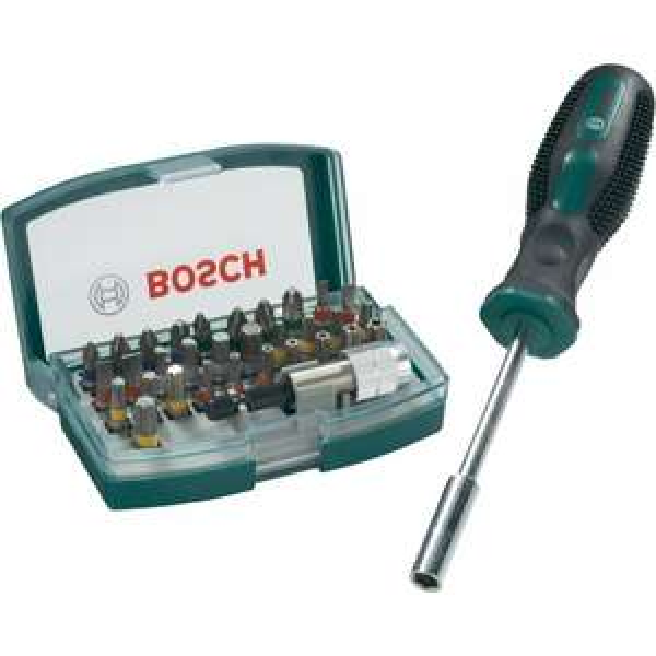 Bosch 32-tlg. Bit-Set + Bithalter-Schraubendreher für 11,99€ @Conrad
