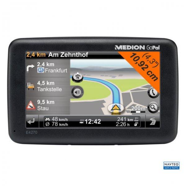"MEDION 4,3 "" Navigationsgerät E4270 (GoPal 7.0), TMC, West- und Osteuropa B-Ware @ Ebay"