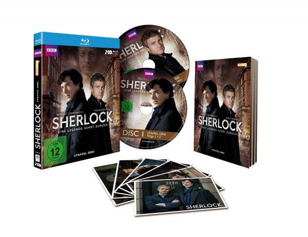 [amazon.de] Sherlock - Staffel 3 inklusive Postkartenset (exklusiv bei Amazon.de) [Blu-ray] [Limited Edition] für 21,29 € (Vorbestellung)