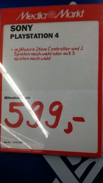 MM Konstanz lokal PS4 inkl. 2. Controller und 2 Spielen nach Wahl oder mit 3 Spielen nach Wahl