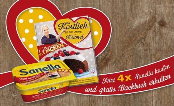 """4x Sanella kaufen, """"Das Große Backen"""" Backbuch gratis"""