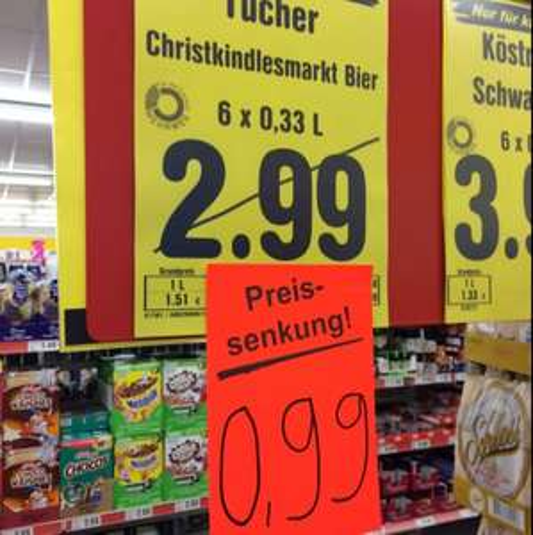 [Netto Bundesweit] Tucher Christkindl Bier 6x0,33l für 0,99€
