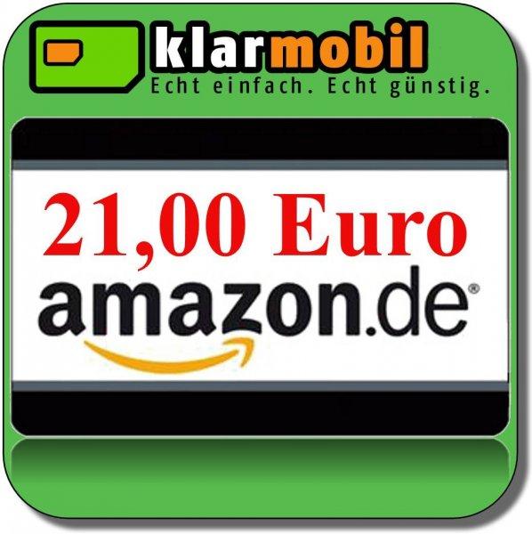 Klarmobil Postpaid Tarif  4,95€ + 15€ Startguthaben +  PRÄMIE 21€ Amazaon Gutschein!