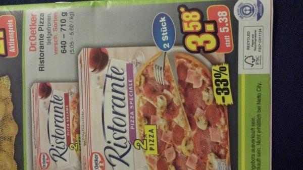 [offline] Dr. Oetker Pizza Ristorante im Doppelpack ( gilt nur am 22.3.)