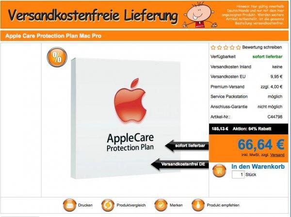 Apple Applecare für Mac Pro für 66,64 € bei SMDV.de inkl. Versand (Normalpreis ab 160 €) Update: Noch bei Voelkner für den Preis