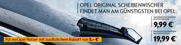 Opel Scheibenwischer-Aktion - neue Original-Scheibenwischer und Profi-Check für 4,99€