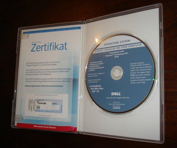 Microsoft Windows 7 Professional 32-Bit Vollvers. OEM, Zertifikat für ProduktKey für 32,95€ @ Ebay