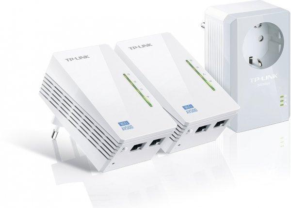 """TP-Link™ - 3er-Set WLAN-N Powerline-Netzwerkadapter """"TL-WPA4226T"""" (500/300 Mbps,integrierte Steckdose) für €89.- [@Amazon.de]"""