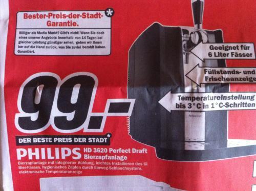 [LOKAL???]Mediamarkt Hameln Philips Perfect Draft 99,-€