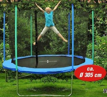Hudora Trampolin 305cm 180kg bei Plaza Bau & Gartencenter für 149€