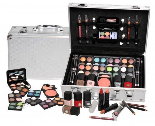 Schminkkoffer Set Alu Profi-Qualität mit French Manicure 58 teilig - Preis 23,50 Euro - frachtfrei