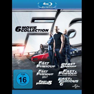 Fast and Furious 1-6 Blu Ray Box
