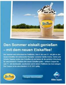 Petit Bistro Coupon für Gratis Eiskaffee via Facebook