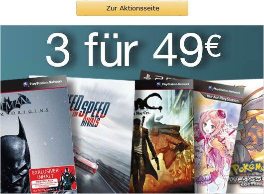Amazon.de 3 Games für 49 Euro
