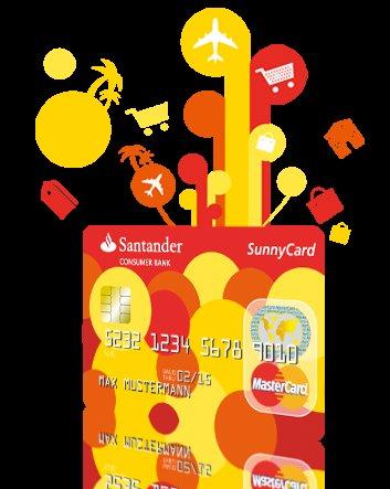 Santander Sunny Card Kreditkarte mit 35 € Amazon Gutschein