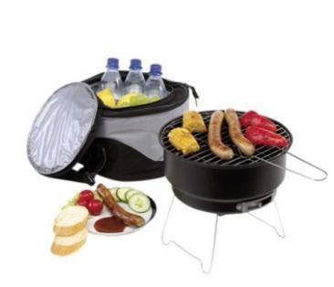 Picknick-Grill+Tragetasche+Integriertes Kühlfach für 24,80€