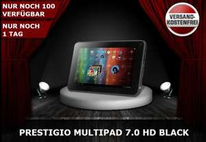 "Tablet Prestigio MultiPad 7.0 HD black mit 7"" Display, 1GB RAM, 4GB und Android 4.1 @One.de für 44,44 €"