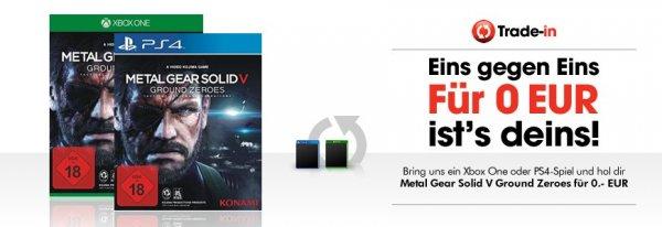 GameStop: Metal Gear Solid V: Ground Zeroes PS4/XBos One im Tausch gegen PS4/XBox One Spiel