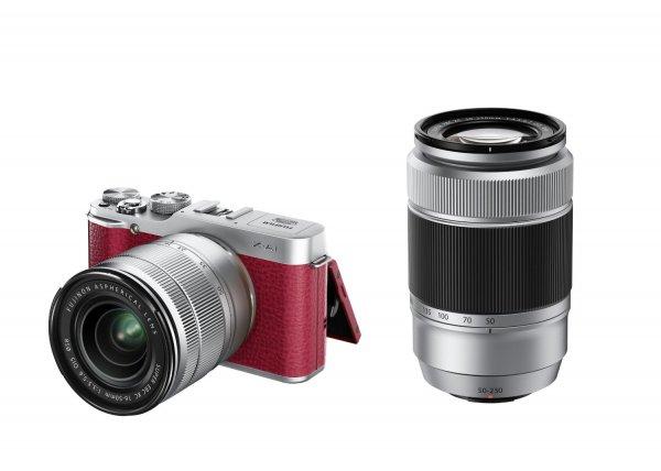 Fujifilm X-A1 Systemkamera (16 Megapixel APS-C CMOS Sensor, 7,6 cm (3 Zoll) LCD-Display, WiFi) Doppelkit ink. XC16-50mm und 50-230mm rot