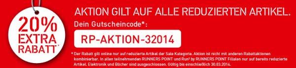 [runnerspoint] Runnerspoint Sale & 20% Rabattcode auf Freizeitschuhe