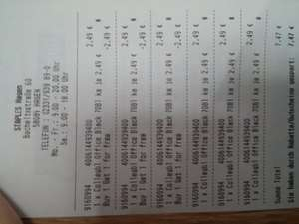Staples, Oxford DIN A4+ Collegeblock 90g, kariert, 2 Stück für 2,49€ evtl. Lokal