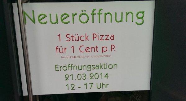 [Lokal Hamburg Ottensen] Stück Pizza für 1 Cent nur am 21.03.14 12-17 Uhr