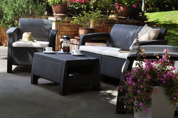 Keter Lounge Set Corfu - 349 EUR inkl. Versand, UVP 399 EUR - 20 % Ersparnis