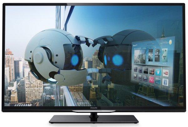 Philips 50PFL4208K 127 cm (50 Zoll) LED-Backlight-Fernseher, EEK A+ (Full HD, 200Hz PMR, DVB-T/C/S2, CI+, WLAN, Smart TV, HbbTV)  @mediamarkt