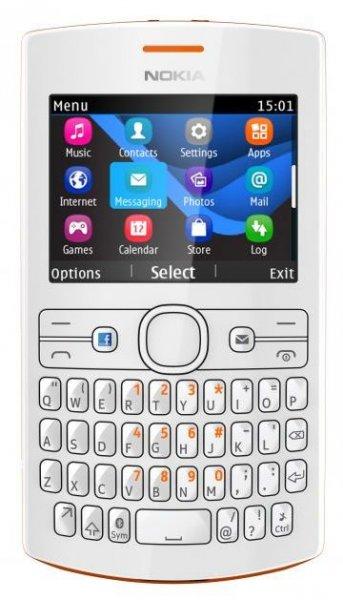 NOKIA Asha 205 Dual-SIM in weiß oder orange/weiß
