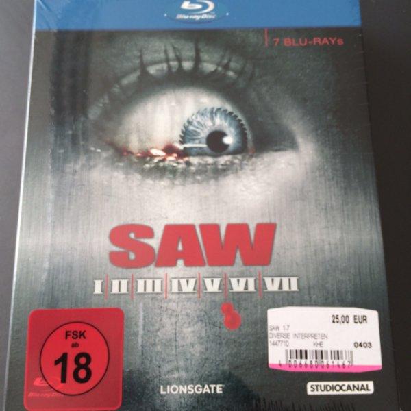 SAW 1-7 (I-VII) BluRay Box für 25 Euro bei Media Markt im Alexa