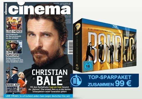 Cinema Jahresabo + James Bond Jubiläums-Collection für 99€