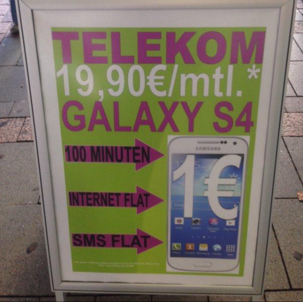 Samsung S4 für 19.90 €