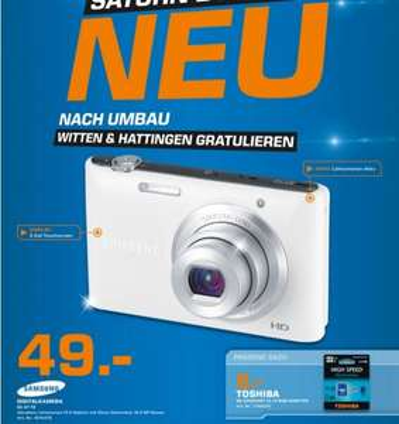Samsung ST72 für 49€,Samsung WB1100F für 169€,LG 55LA6678 für 959€ Lokal [Saturn Bochum]