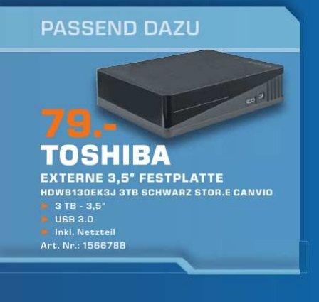 ( Lokal )  Toshiba StorE Canvio 3 TB  externe Festplatte USB 3.0