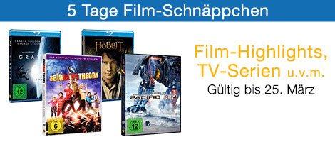 5 Tage Film-Schnäppchen bei Amazon.de + Titel im Wert von 30 € einkaufen und 5 € sparen z.B. Herr der Ringe Trilogie Extended Edition für 44,97 €, Six Feet Under Komplettbox & The Wire Komplettbox für je 39,97 €