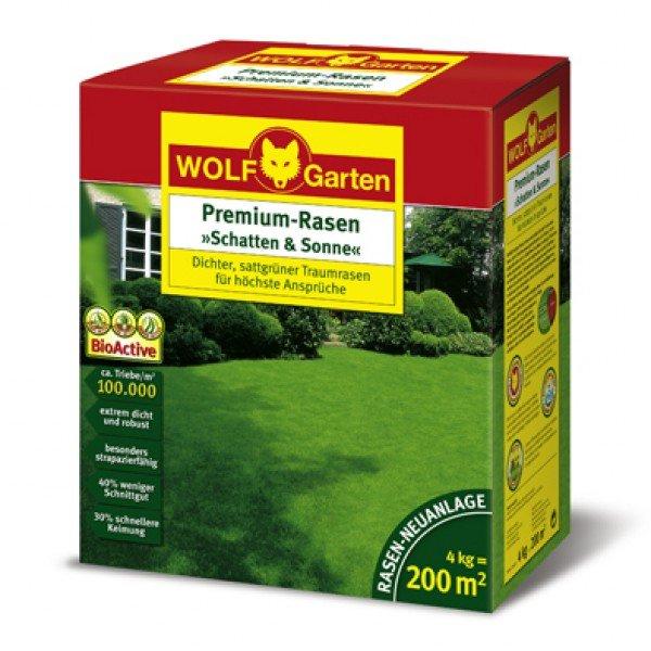 Wolf Garten Premium-Rasensaat LP200 8 kg (~400 qm) für 99,80 Euro (bester Preis Idealo: 119,90 Euro) oder 4 kg für 54,89 Euro - 2% Qipu möglich [@comtech.de]