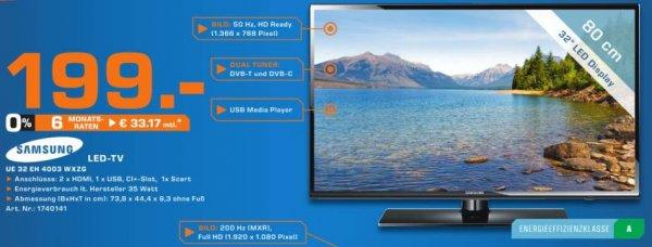 "[Saturn Köln Hansaring] Samsung 32"" LED-TV U32EH4003WZXG"