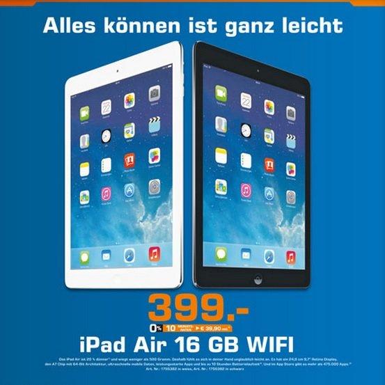 iPad Air 16GB WiFi 399€ Lokal [Saturn Chemnitz]