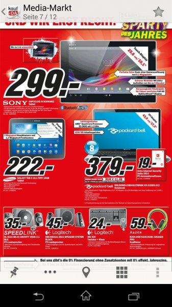 [Lokal MM Weserpark] Sony Xperia Z Tablet 16 Gb